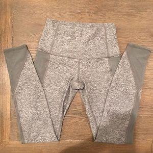 "Lululemon high rise legging 29"" w/mesh, grey, 6"
